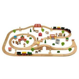 Houten treinbanen / Trein rails uitbreiding & gebouwen